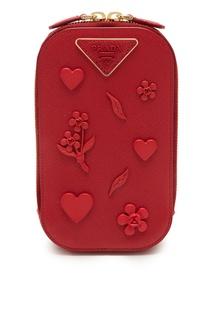 Красная сумка с отделкой Prada