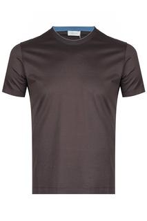 Прямая коричневая футболка Cortigiani