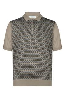 Коричневая рубашка-поло Cortigiani