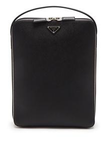 Прямоугольный рюкзак из сафьяновой кожи Prada