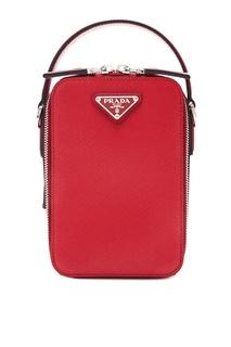 Маленькая сумка красного цвета Prada