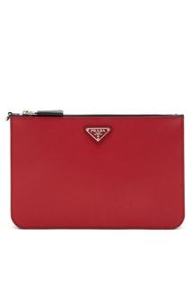Клатч на руку красного цвета Prada
