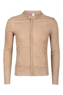 Бежевая кожаная куртка Giorgio Brato