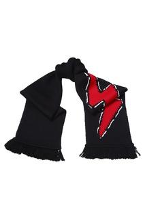 Черный шарф с молнией Prada