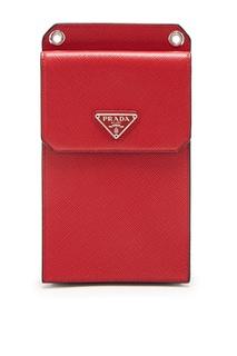 Красный чехол для iPhone Prada