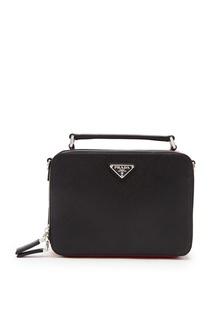 Черная сумка через плечо Prada