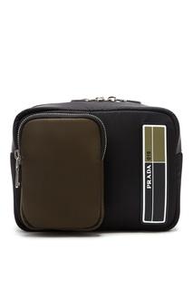 Маленький рюкзак из технической ткани Prada