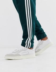 Белые замшевые кроссовки adidas Originals SC Premier - Белый