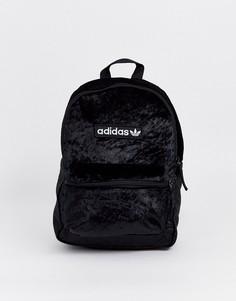 Черный бархатный рюкзак adidas Originals - Черный