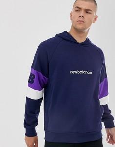 Худи темно-синего цвета New Balance - Athletics - Темно-синий