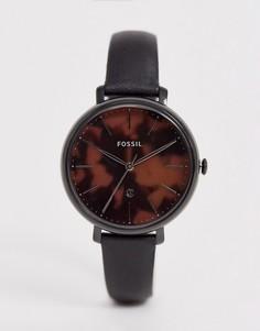 Часы 36 мм с кожаным ремешком Fossil ES4632 Jacqueline - Черный