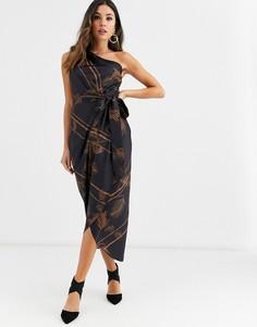 Платье на одно плечо Ted Baker Gabia - Черный