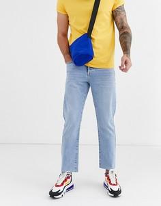 Выбеленные джинсы в винтажном стиле Topman - Синий