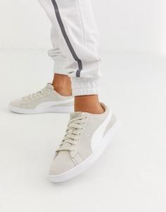Серые кроссовки на платформе Puma - Smash - Серый