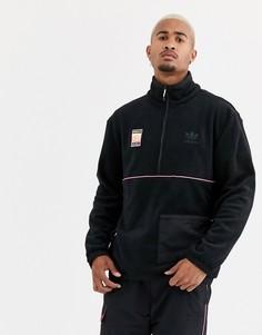 Черная флисовая куртка adidas Originals adiplore polar - Черный