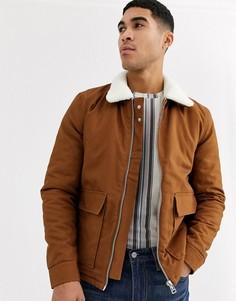 Куртка с воротником борг Topman - Коричневый