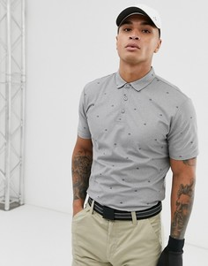 Поло серого цвета с логотипом Calvin Klein Golf - Серый