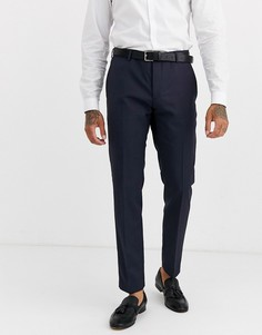 Темно-синие фактурные брюки Calvin Klein - Темно-синий