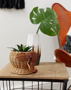 Цветочный горшок с дизайном в виде слона ASOS SUPPLY - Мульти