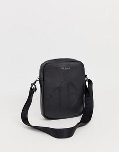 Черная сумка для авиапутешествий с тисненым логотипом Ted Baker Trama - Черный