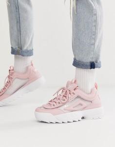 Розовые кроссовки Fila Disruptor II - Розовый