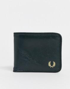 Зеленый классический бумажник Fred Perry - Зеленый