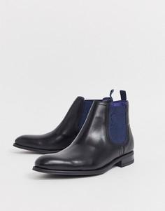 Черные кожаные ботинки челси Ted Baker travic - Черный