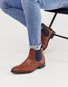 Светло-коричневые кожаные ботинки челси Ted Baker travic - Рыжий