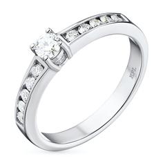Кольцо из белого золота с бриллиантами э09к021633 ЭПЛ Якутские Бриллианты