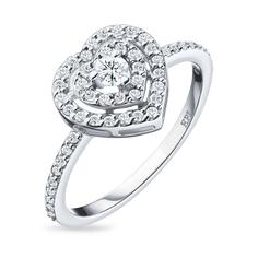 Кольцо из белого золота с бриллиантами э09к031817 ЭПЛ Якутские Бриллианты