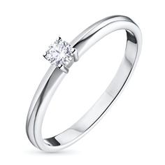 Кольцо из белого золота с бриллиантом э09к121542 ЭПЛ Якутские Бриллианты