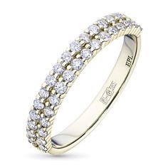 Кольцо из желтого золота с бриллиантами э03к041819 ЭПЛ Якутские Бриллианты