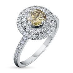 Кольцо из белого золота с бриллиантами ктп09к111801 ЭПЛ Якутские Бриллианты