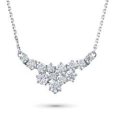 Колье из белого золота с бриллиантами э09кл111835 ЭПЛ Якутские Бриллианты