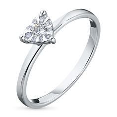 Кольцо из белого золота с бриллиантами БВ09к031995 ЭПЛ Якутские Бриллианты