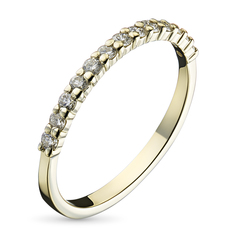 Кольцо из желтого золота с бриллиантом э03к121537 ЭПЛ Якутские Бриллианты