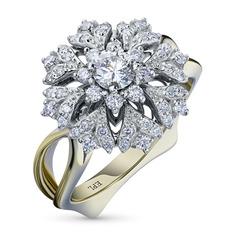 Кольцо из красного золота с бриллиантами БВ10к011989 ЭПЛ Якутские Бриллианты