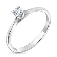 Кольцо из белого золота с бриллиантом э09к111542 ЭПЛ Якутские Бриллианты