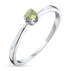 Кольцо из серебра с хризолитом 102725-012-0019 ЭПЛ Якутские Бриллианты