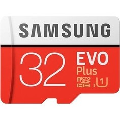 Карта памяти Samsung microSDHC 32GB EVO Plus v2 UHS-I U1 + SD Adapter (MB-MC32GA/RU)