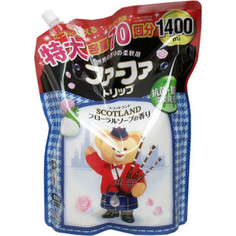 Кондиционер Nissan FaFa SCOTLAND с антибактериальным эффектом и и нежным ароматом цветочного мыла, мягкая упаковка, 1,4 л