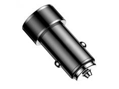 Зарядное устройство Baseus Small Screw Type-C PD+USB Quick Charge Car Charger 36W Black CAXLD-A01