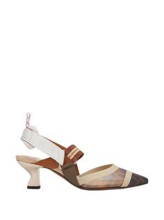 Fendi туфли с ремешком на щиколотке Zucca