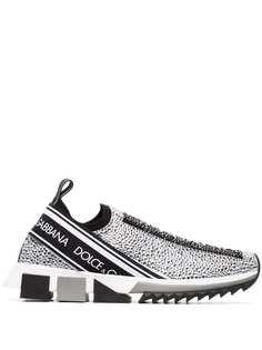 Dolce & Gabbana кроссовки со стразами