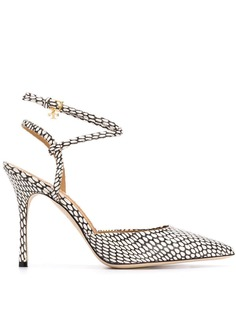 Tory Burch туфли-лодочки со змеиным принтом Penelope