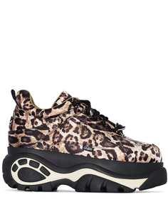 Buffalo кроссовки с леопардовым принтом