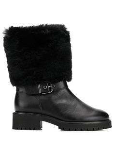 Hogl ботинки с меховой оторочкой