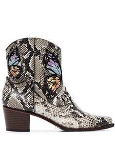 Sophia Webster ковбойские ботинки Shelby 50 со змеиным принтом