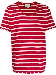 Gucci полосатая футболка с U-образным вырезом
