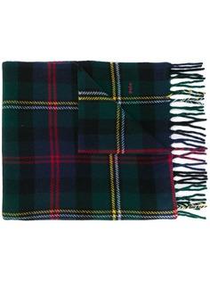 Ralph Lauren шарф с бахромой в клетку тартан